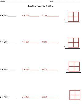 math worksheet : common core aligned multiplication using partial products  area  : Area Multiplication Worksheets