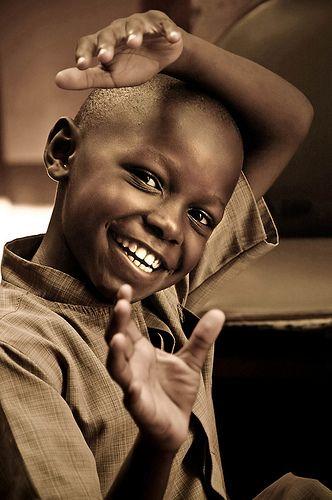 Sorriso de criança ''simples e verdadeiro''