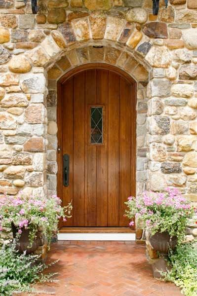Arched Doors French Country And Stone Facade On Pinterest