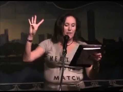 """Janet Kuypers reads Drew Nacht's cc&d poem """"I Can't Wait to Get to Work""""..."""