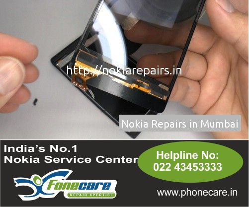 Broken Screen replacement for Nokia Cell phone  in Worli and also all accross Mumbai. Here you go Phone call on 7302 448 448