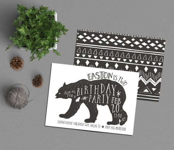 Bear Birthday Party Invitation imprimable le par INVITEDbyAudriana