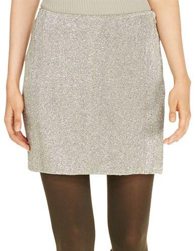 Polo Ralph Lauren Slim-Fit Beaded Skirt Women's Grey 12