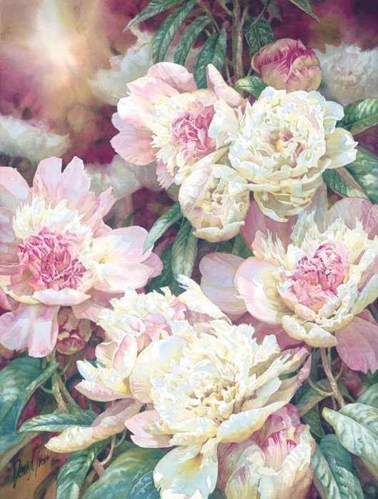 flores, aquarelas