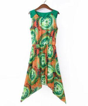 Meerjungfrau Kunstwerk Vintage Kleid Über dem Knie