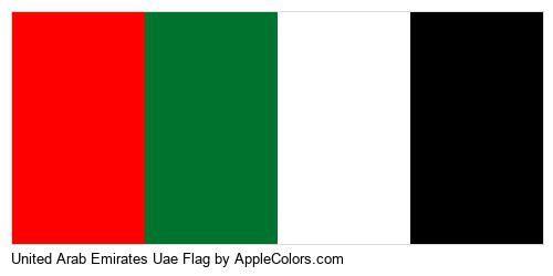 United Arab Emirates Uae Flag Palette In 2020 Uae Flag United Arab Emirates