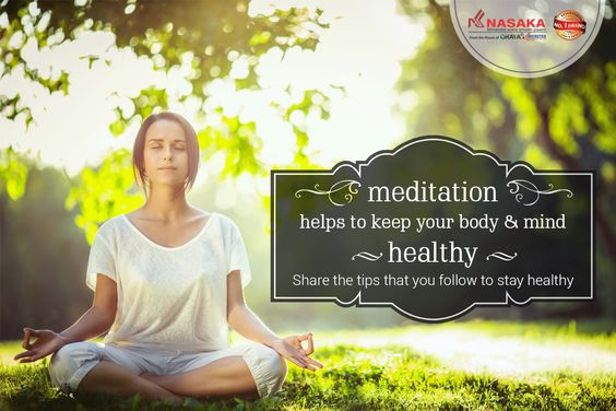#MondayMantra - Meditation helps to keep your body & mind.