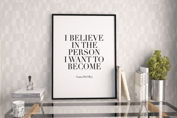 LANA DEL REYI Believe In The Person I Want To by TypoHouse on Etsy