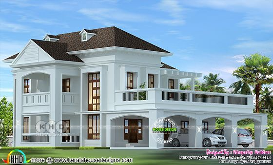 2724 Square Feet Colonial Home Design In 2020 Kerala House