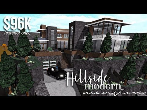 Roblox Bloxburg How Glitch Into Houses Hillside Modern Mansion Part1 Exterior Roblox Bloxburg Gamingwithv Youtube In 2020 Modern Mansion Modern Family House Mansions