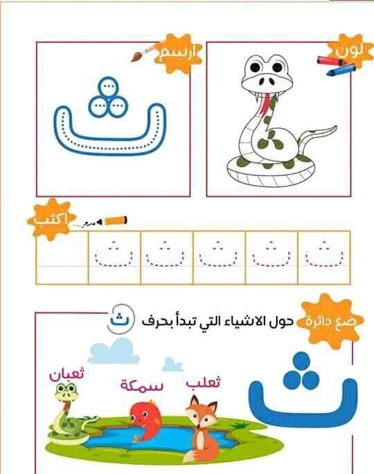 مدونة جنى للأطفال مدونة خاصة بتعليم الأطفال بالإبداع والمرح Arabic Alphabet For Kids Alphabet Nursery Alphabet Preschool