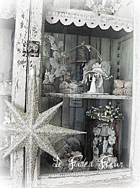 White Vintage Shelf Display