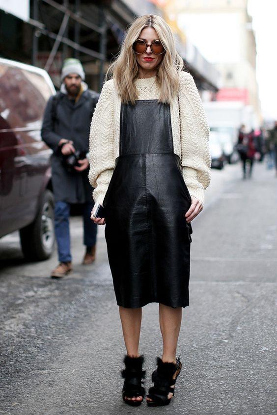 cosy knitwear #streetstyle seen in New York