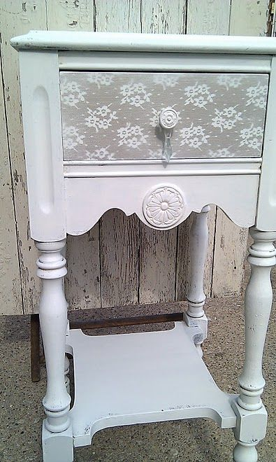 painted lace dresser: