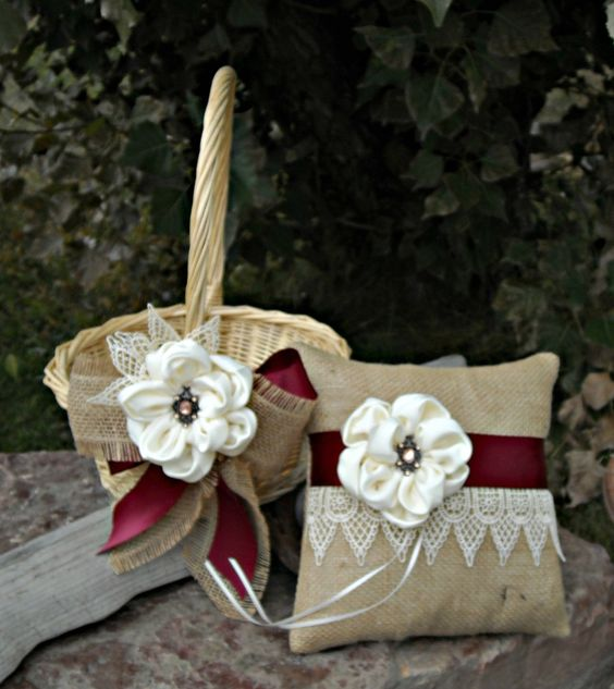 Flower Baskets For Wedding : Wedding baskets and flower girl basket on