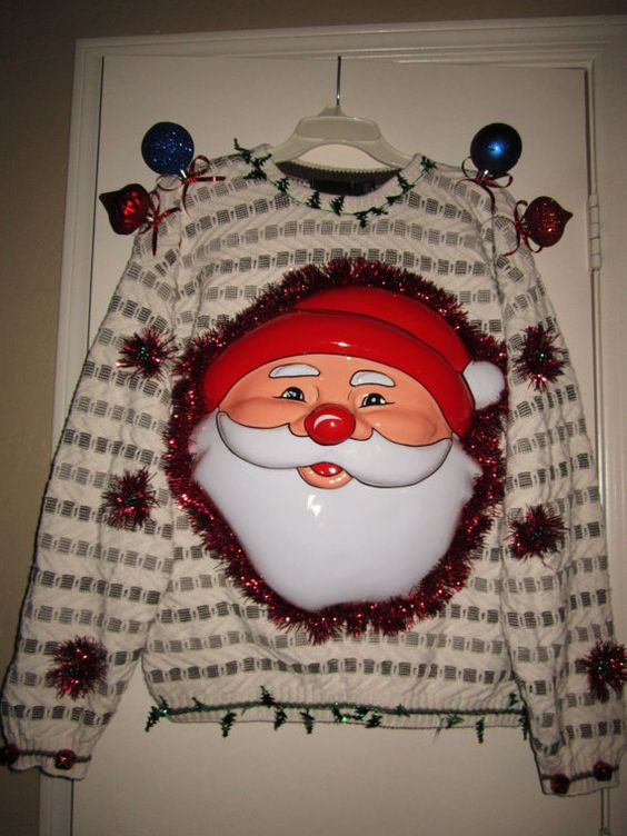 Ugly Christmas Sweater by KarensArtisticWays on Etsy, $35.00