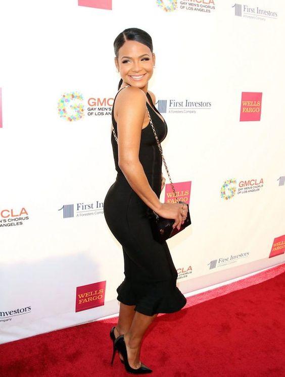 christina-milian-gmcls-voice-awards-house-of-cb-jianna-black-sleeveless-ruffle-hem-body-con-dress.jpg (600×795)