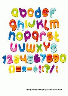 Letras de gominola abecedario infantil para imprimir - Letras infantiles para puertas ...