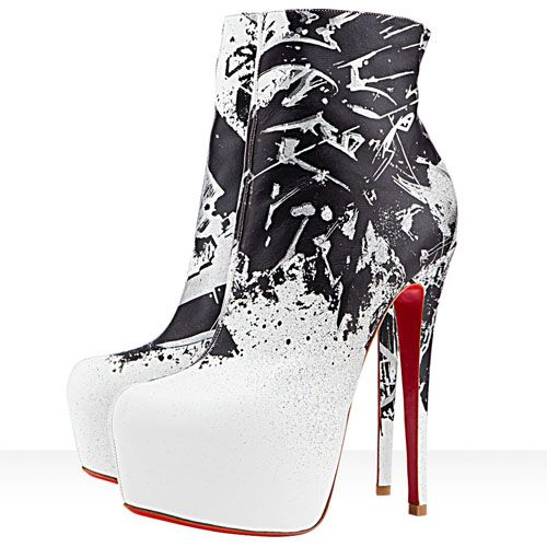 fake louboutin shoes online - Christian Louboutin Daf Booty Tag 160mm Leather Ankle Boots White ...