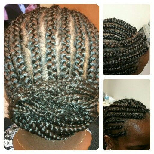 how to make ponytail of straight brazilian weave : Cornrow Low Bun cornrows into low bun hair splendor beauties ...