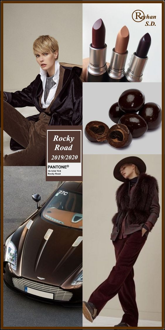 '' Rocky Road '' Pantone - Autumn/ Winter 2019/ 2020 Color- by Reyhan S.D.