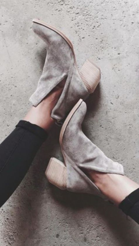 Grey suede cut out boots // Jeffrey Campbell