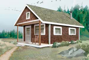 build a $4,000 cozy cabin.