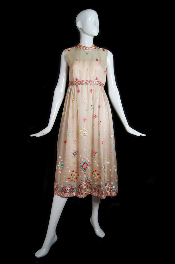 1960s Embroidered Silk Malcolm Starr