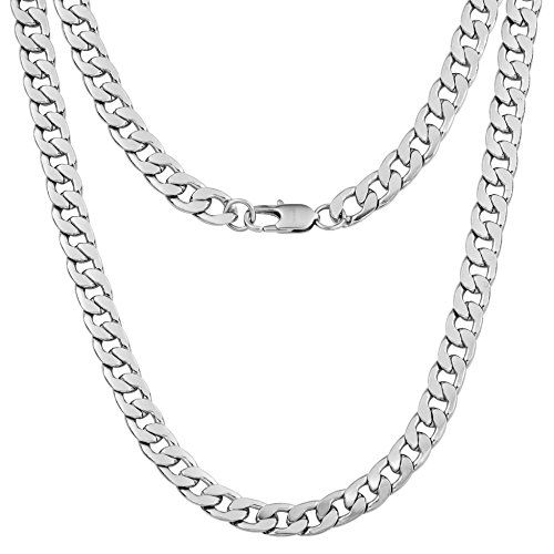 """Mens Stainless Steel Silver Pendant Necklace Chain Link 16/"""" 18/"""" Hip Hop Choker"""