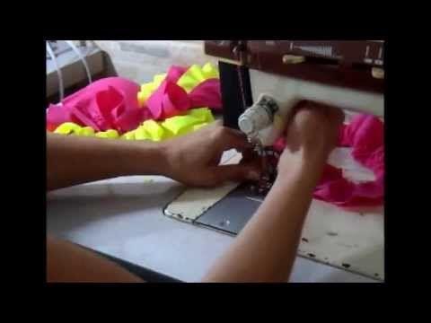 como fazer calcinha de biquini c/cós e babado - YouTube