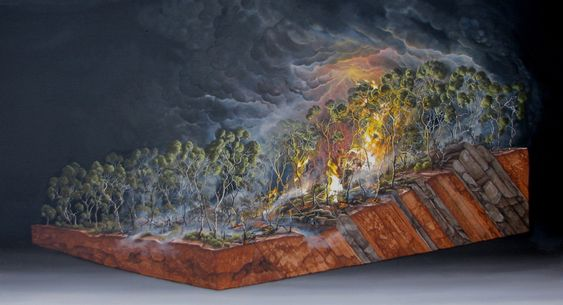 Dale Cox, Bushfires Series, As under and Ascension