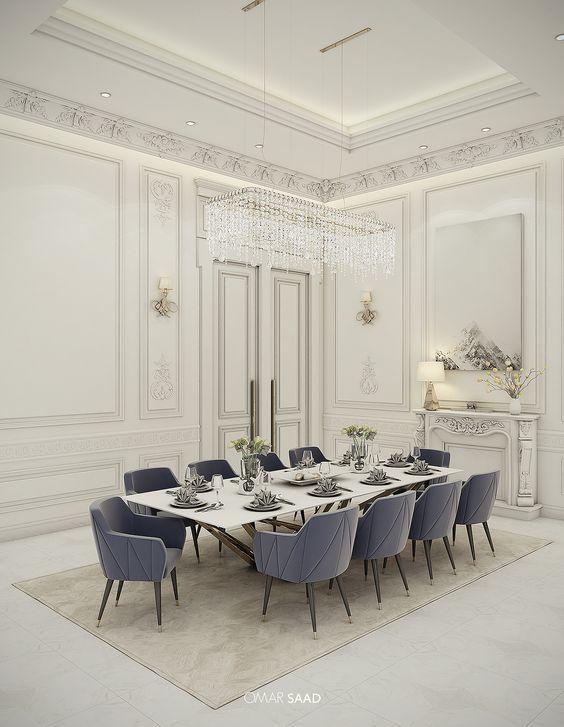 Golden Lighting Design Ideas For Modern Luxury Homes Classic Interior Design Living Room Classic Dining Room Luxury Dining Room