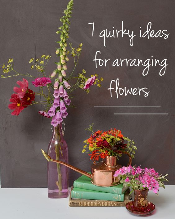 7 Quirky ideas for arranging flowers- MiaFleur
