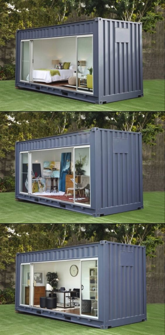 Need Extra Room Rent A Backyard Shipping Container The Interiors Addict Container House Container House Design Building A Container Home