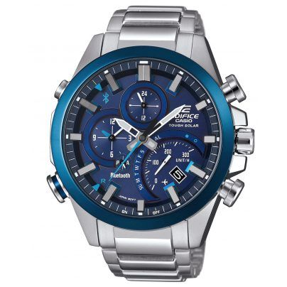 Sportliche Herrenuhr von Casio mit verschiedenen Zusatzfunktionen: https://www.uhrcenter.de/uhren/casio/edifice/casio-edifice-bluetooth-solaruhr-eqb-500d-2aer/ #Herrenuhr #Armbanduhr #Uhr #watch #uhrcenter #Bluetooth