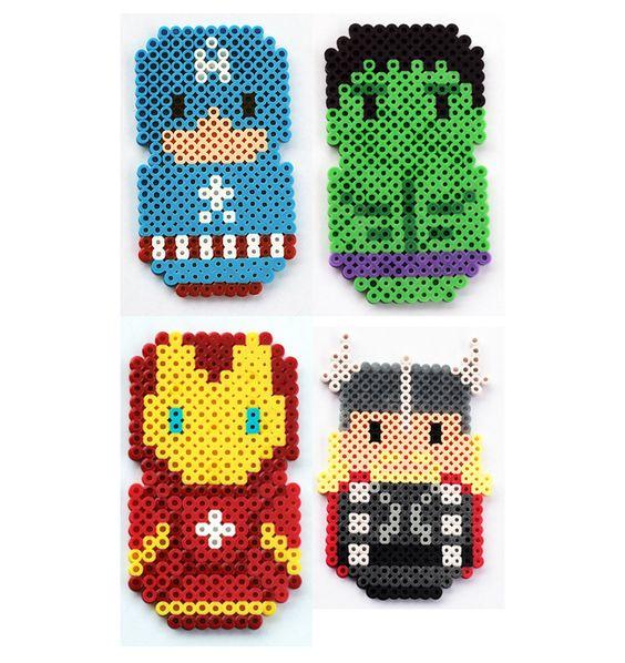 Marvel The Avengers perler beads by ThePlayfulPerler on deviantart