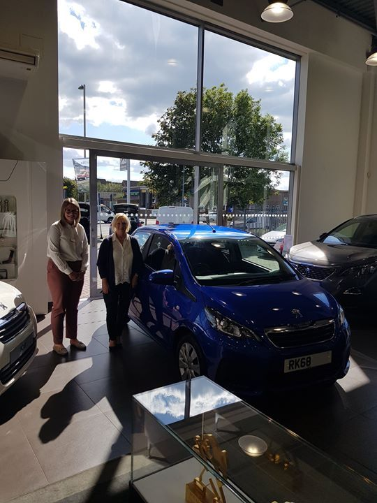 Anne Hunt Has Taken Delivery Of Her 3rd Peugeot 108 From Charters