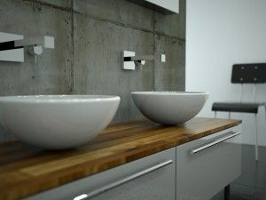 wand im badezimmer aus beton ideen hausumbau pinterest w nde. Black Bedroom Furniture Sets. Home Design Ideas