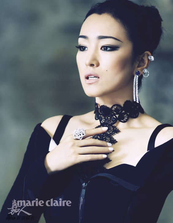 Chinese actress Gong Li  http://www.chinaentertainmentnews.com/2015/08/actress-gong-li-covers-marie-claire.html