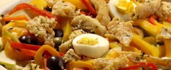 Salada de bacalhau fina
