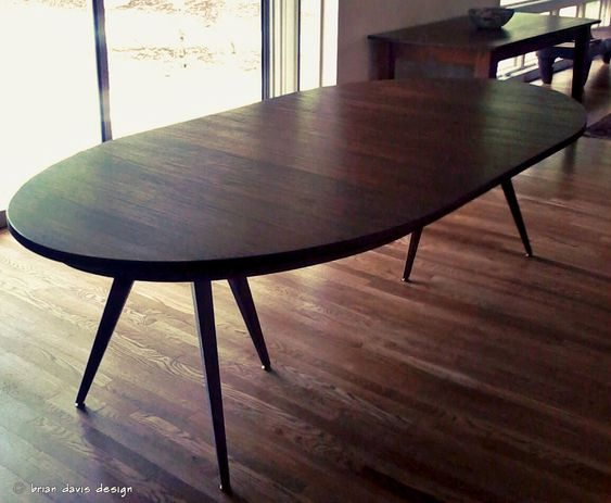 Solid Walnut Tripod Oval Expanding Dining Table Oval Table Dining Oval Dining Room Table Dining Table