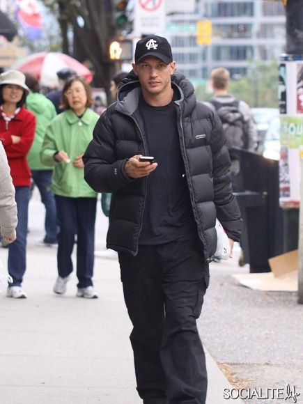 Tom Hardy is seen leaving HMV on a break from filming 'This Means War' - 10/07/ 9