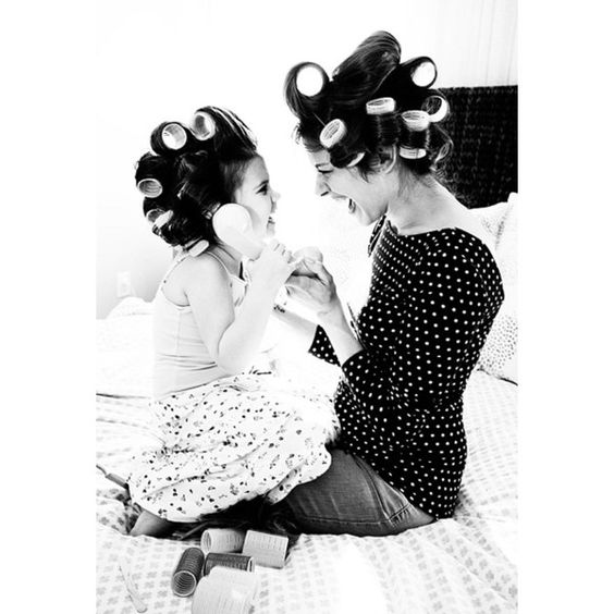 Like Mother, Like Daughter 25 Adorable Photos Of Moms And Their... ❤ liked on Polyvore