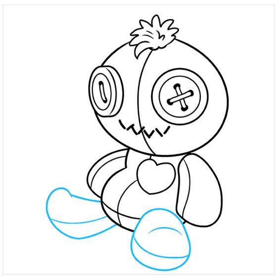 Vẽ Búp Bê Ma Voodoo trong ngày lễ Halloween