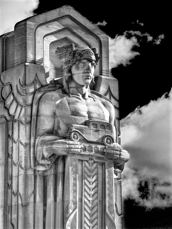 One Of The Guardians Of Transportation Hope Memorial Bridge Carnegie Avenue Cleveland Oh In 2020 Art Deco Buildings Art Deco Architecture Art Deco Design