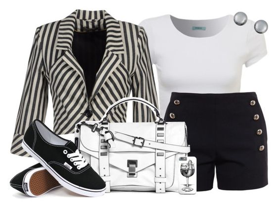 """""""Untitled #880"""" by kaishabackwards ❤ liked on Polyvore featuring Kenneth Jay Lane, Chloé, Nümph, Proenza Schouler and Vans"""