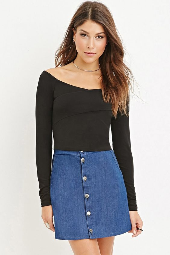 Off-The-Shoulder Crop Top | FOREVER 21 saved by #ShoppingIS
