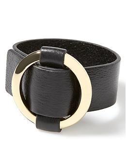 Leather Wide Belt Bracelet