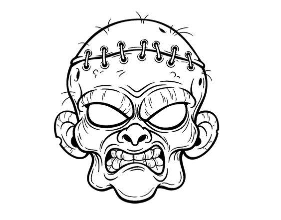 Dibujo De Cara De Bruja Para Colorear: Zombies, Dibujo And Halloween On Pinterest