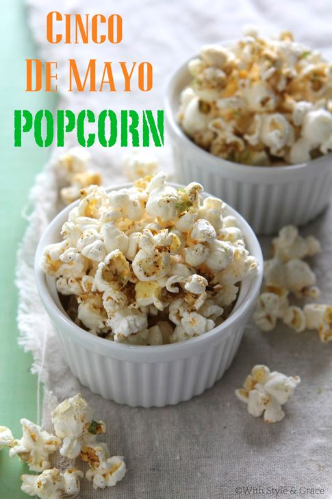 Cinco de Mayo Chili Lime Popcorn 8 cups of popcorn, popped 3 ...